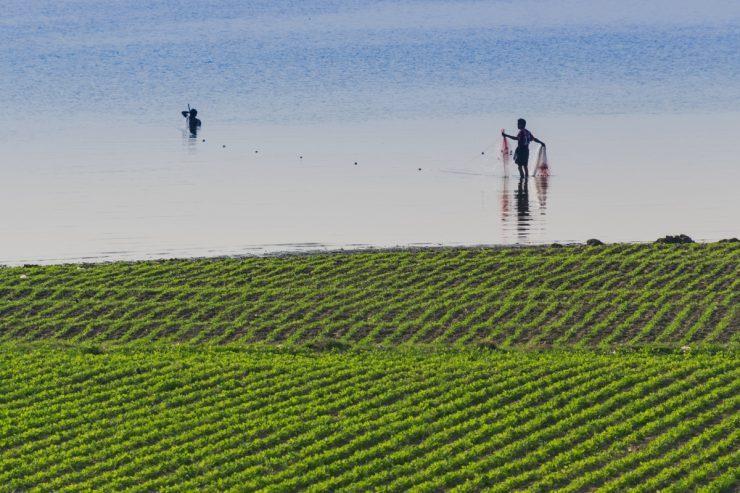 Pêche près du pont U Bein