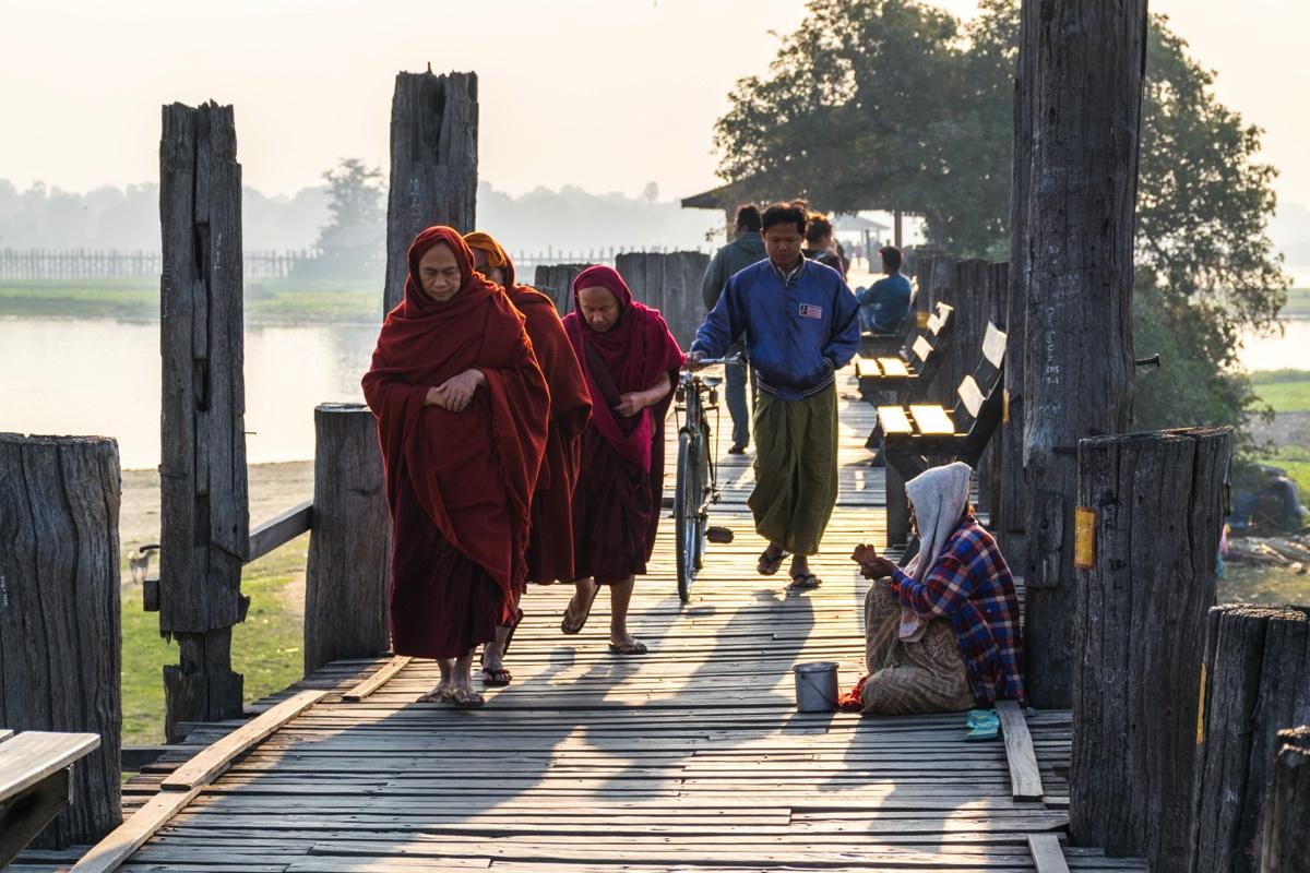 Pont U Bein en Birmanie