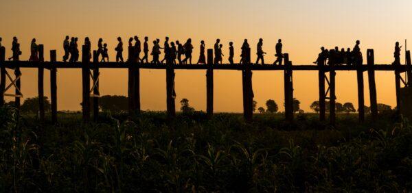 Sunset sur le pont U Bein