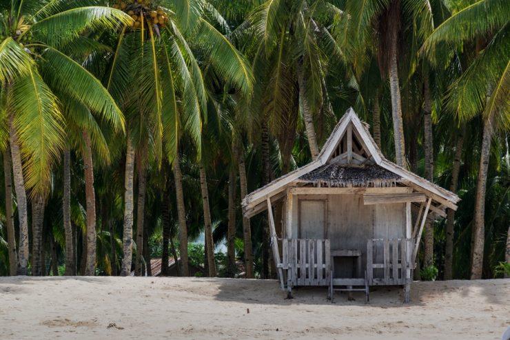 Cabanon en bord de mer aux Philippines