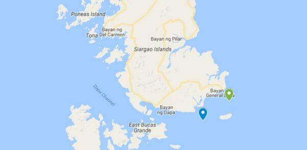 Carte de Guyam et Naked Island