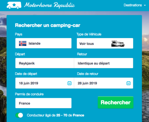 Location de van ou camping car en Islande