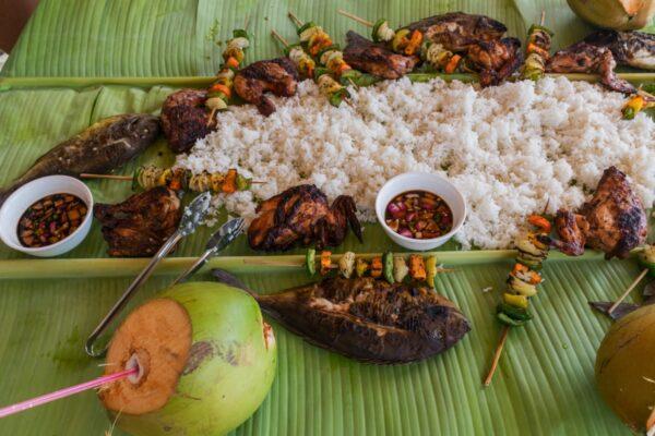 Repas sur Dako Island