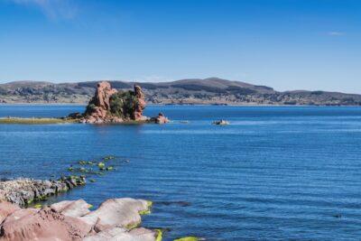 Vue sur le lac Titicaca depuis le Titilaka lodge