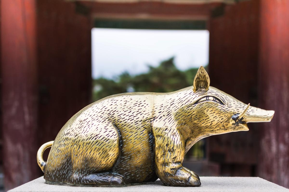 Cochon doré du temple Bulguksa