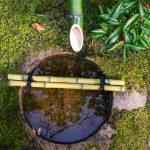 Bambou et eau dans le jardin Shokado