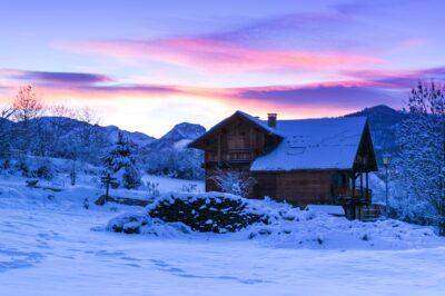 Lever de soleil dans les Hautes-Alpes