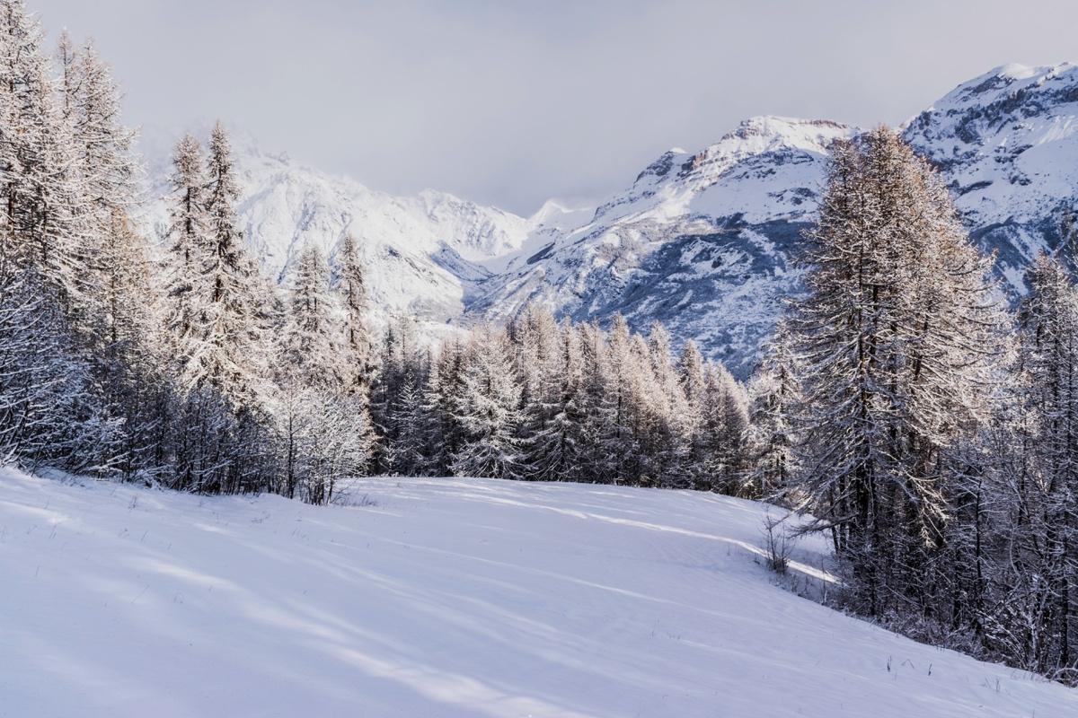 Neige dans les Hautes-Alpes
