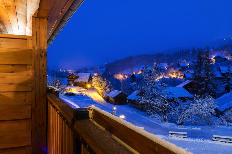 Puy-Saint-Vincent en début de soirée