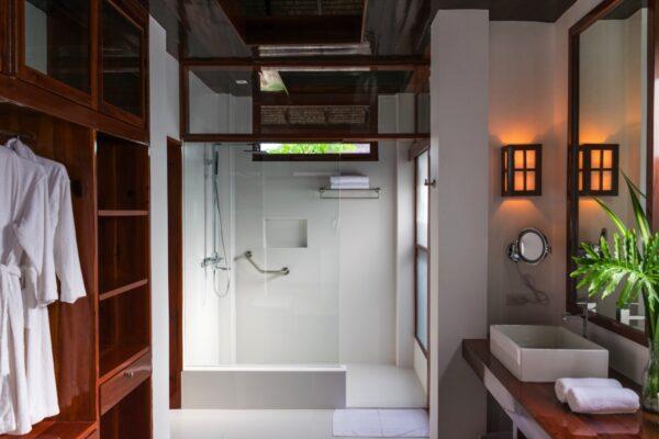 Salle de bain des villas de l'hôtel Isla Cabana à Siargao