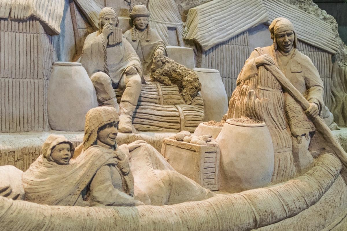 Sculpture en sable au Sand Museum de Tottori