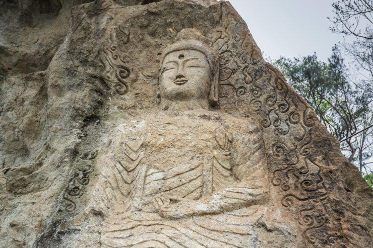 Statue de Bouddha au temple Golgulsa