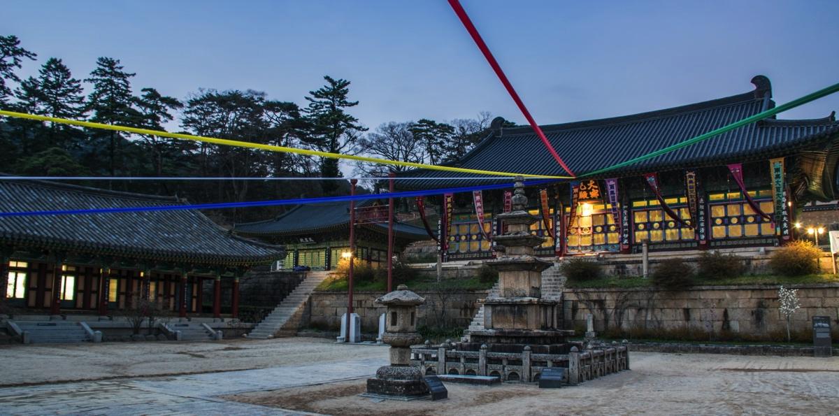 Temple Haeinsa en début de soirée