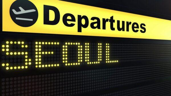 Billet d'avion pour un voyage en Corée du Sud