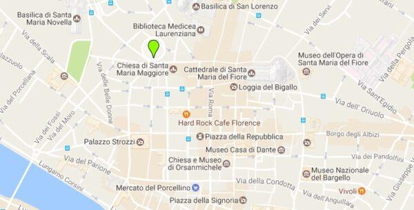 Carte de l'hôtel Cerretani Florence MGallery Collection