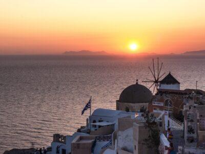 Coucher de soleil à Oia - Santorin