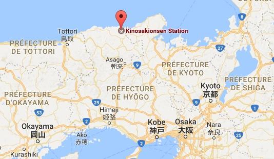Kinosaki Onsen - carte