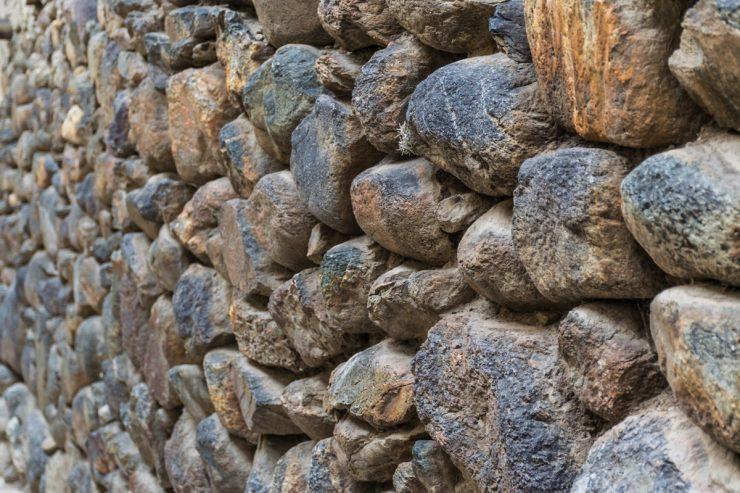 Mur en pierre à Ollantaytambo