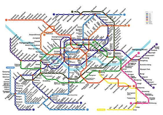 Plan du métro de Séoul