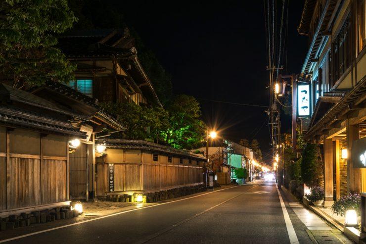 Une rue de Kinosaki Onsen
