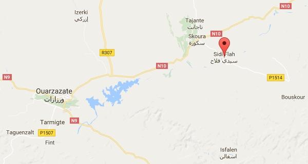 Carte de l'oasis de Sidi Flah