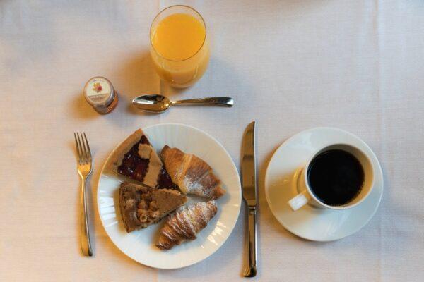 Petit déjeuner à l'hôtel Brunelleschi