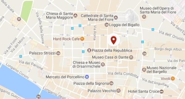 Plan de l'hôtel Brunelleschi à Florence