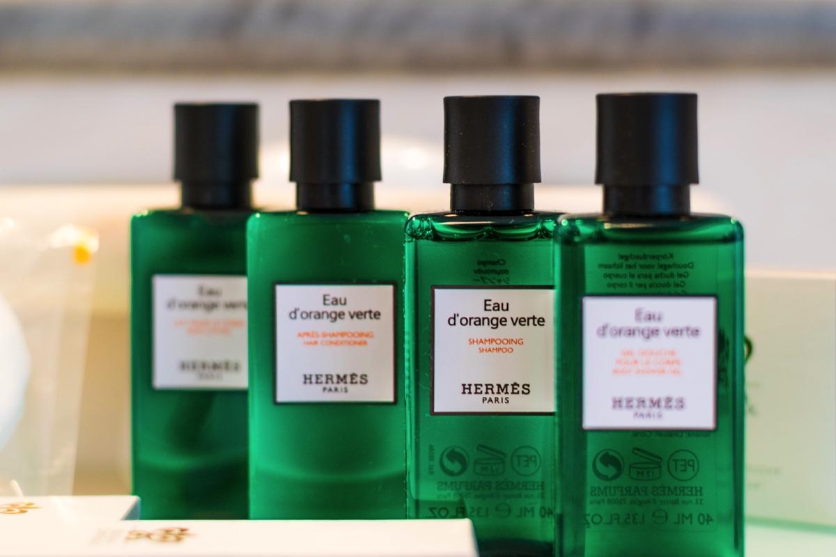 Produits de bain Hermès à la ferme Saint Siméon