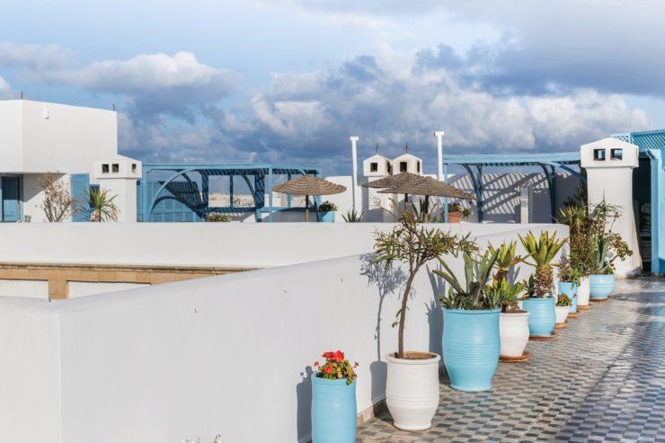Rooftop de l'Heure Bleue Palais à Essaouira