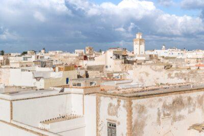Vue sur la médina d'Essaouira depuis l'Heure Bleue