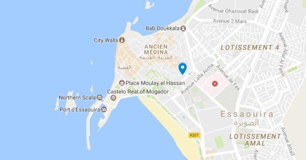 Plan de l'Heure Bleue Palais à Essaouira