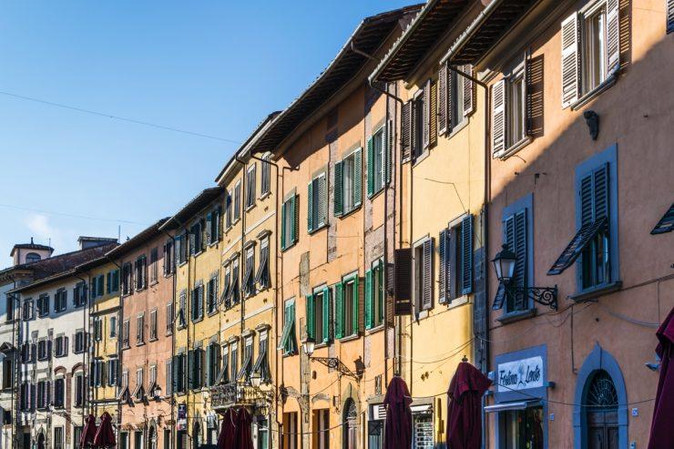 Maisons traditionnelles italiennes à Pise