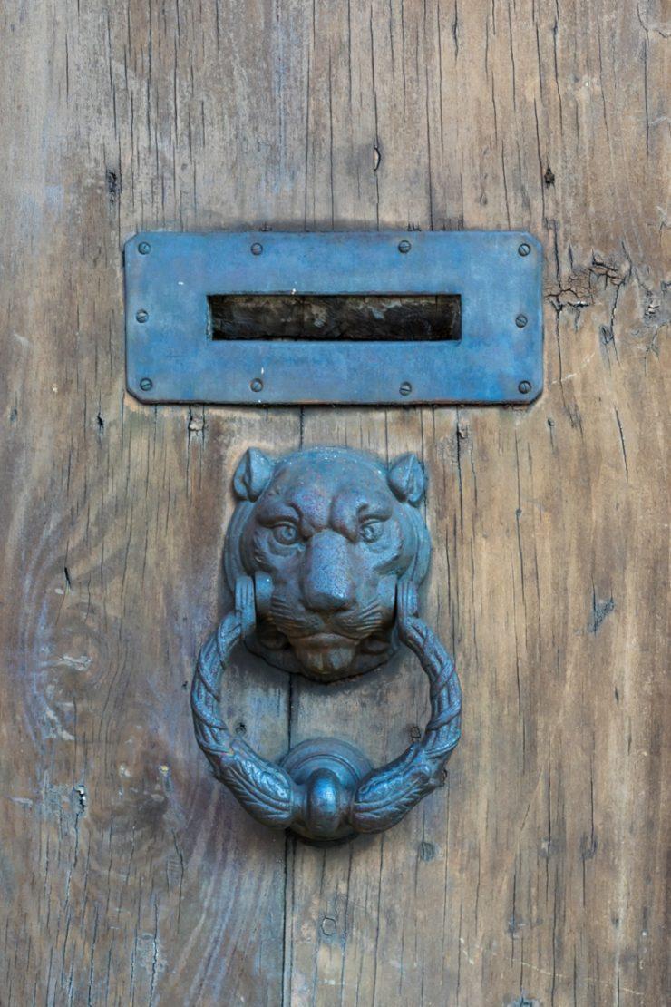 Porte d'une maison de Pise
