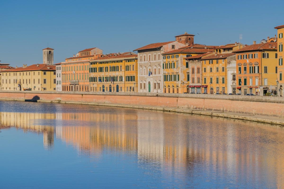 Rives de l'Arno à Pise