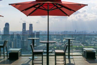 Cé La Vi rooftop bar à Singapour