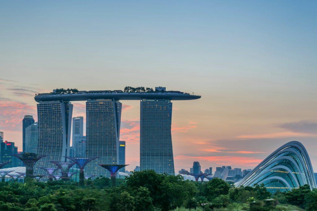 Coucher de soleil à Singapour