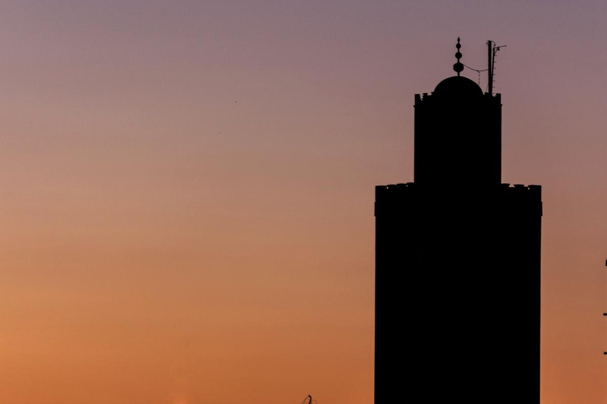 Coucher de soleil depuis la terrasse du Dar Assiya
