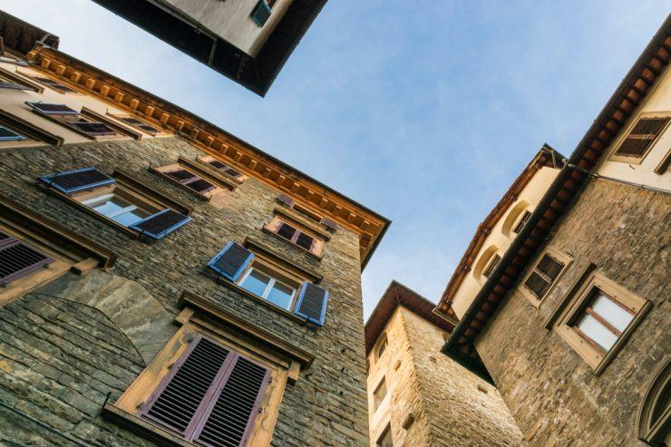 Maisons dans une rue de Florence