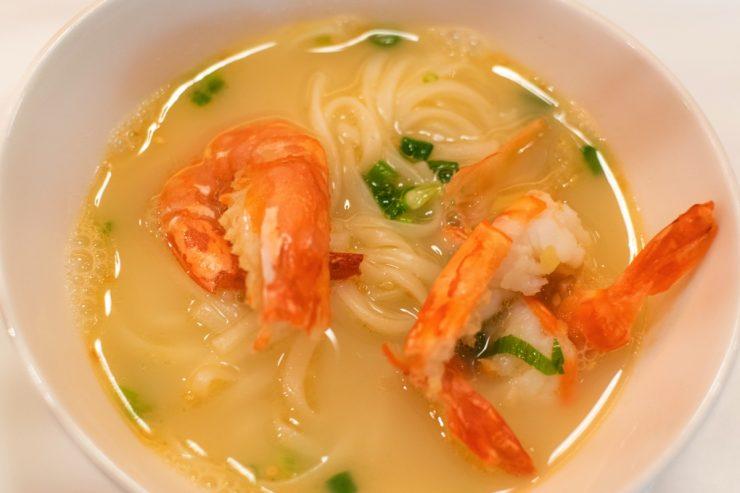 Un plat au restaurant Yan du National Gallery Singapore