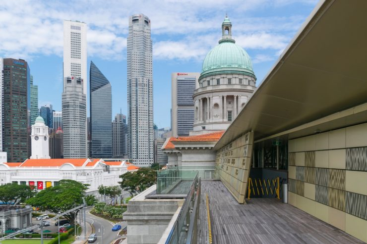 Terrasse du National Gallery Singapore