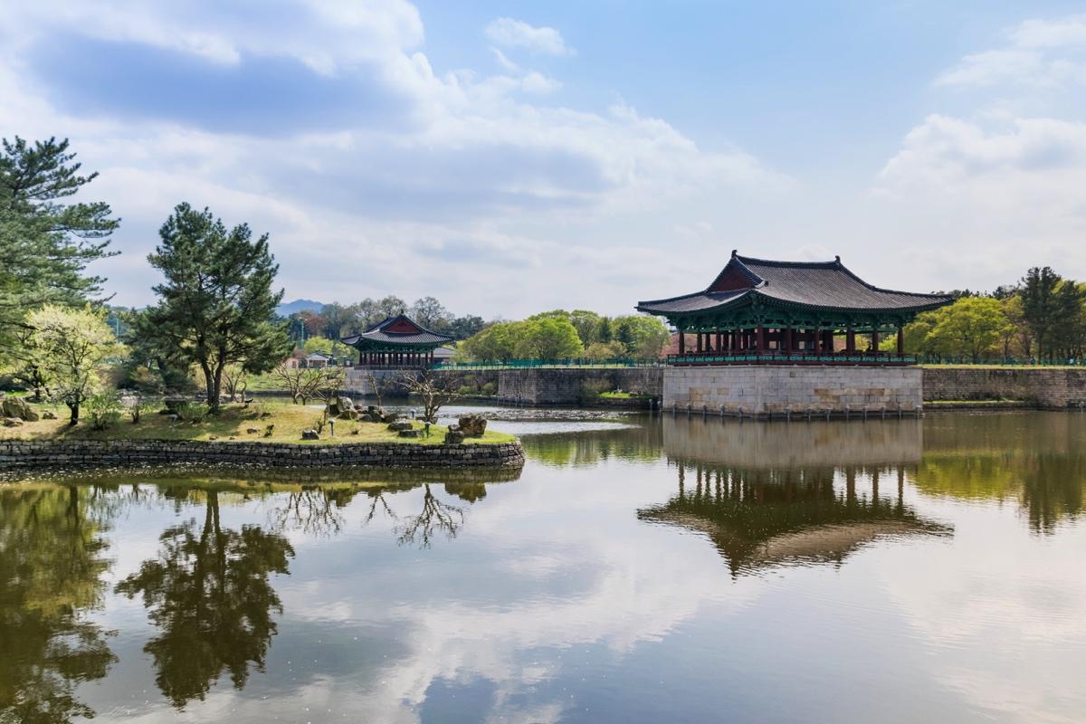 Anapji pond à Gyeongju