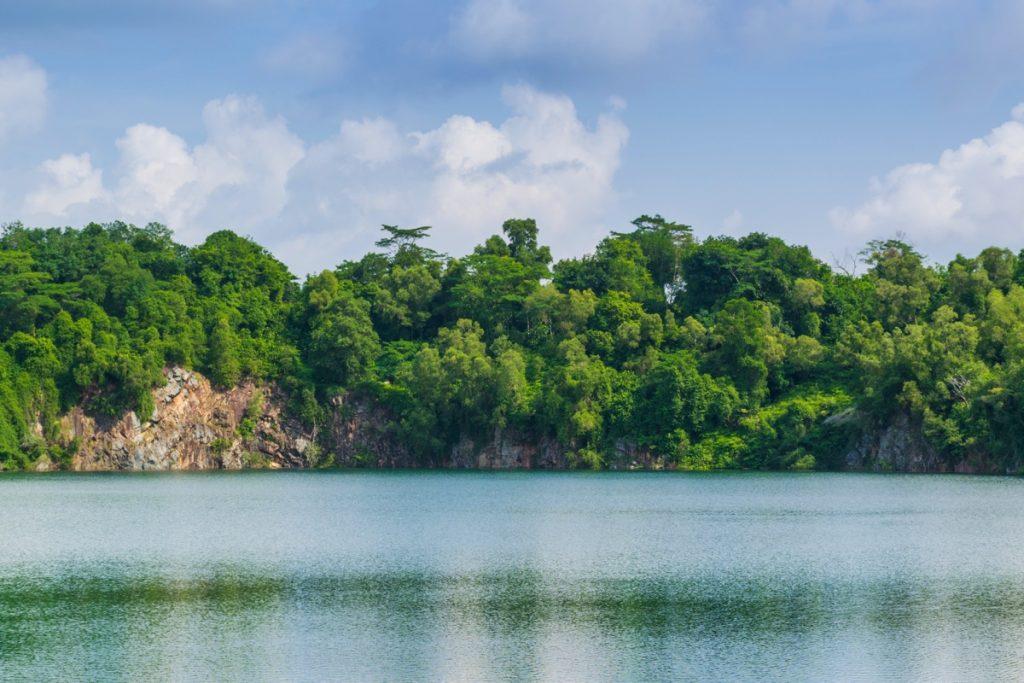 Ancienne carrière sur Pulau Ubin