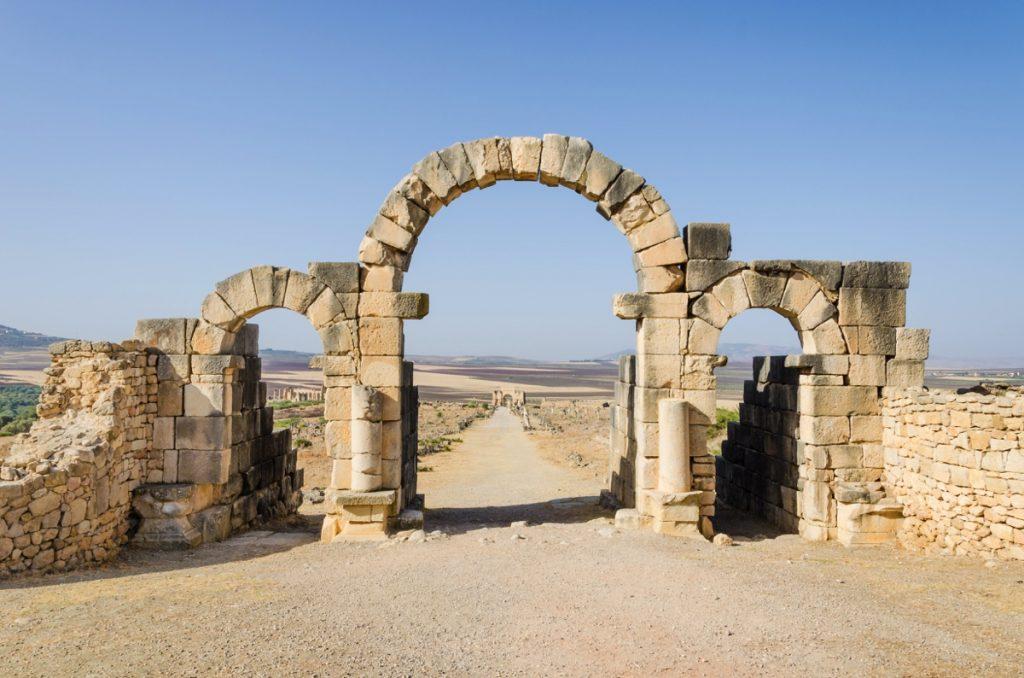 Ruines de Volubilis au Maroc