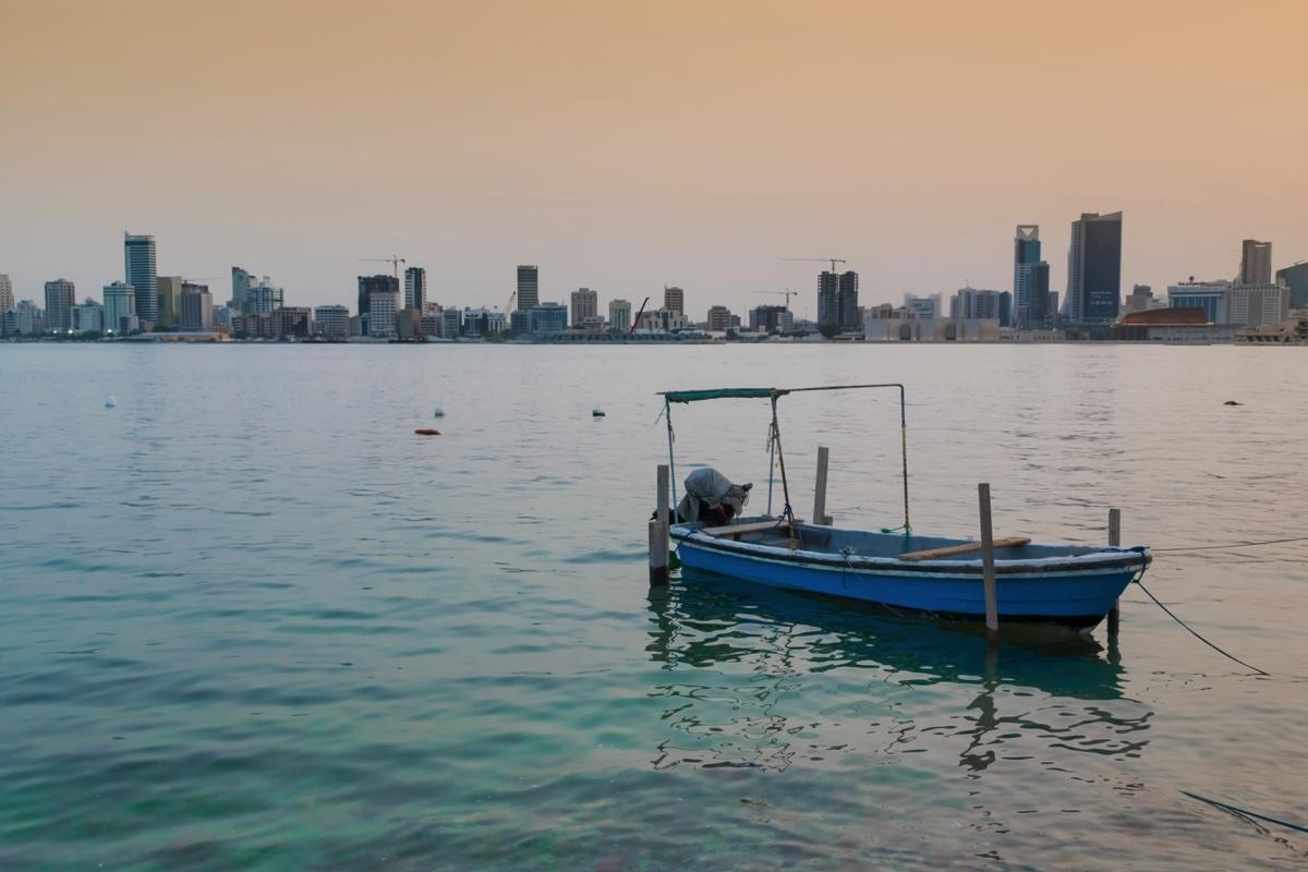 Coucher de soleil sur la baie du Bahreïn