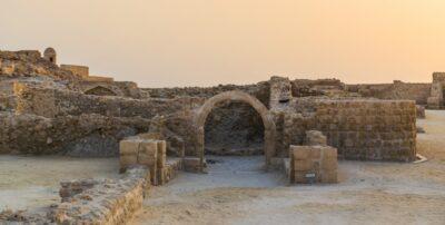 Coucher de soleil dans le Qal'at al Bahrain