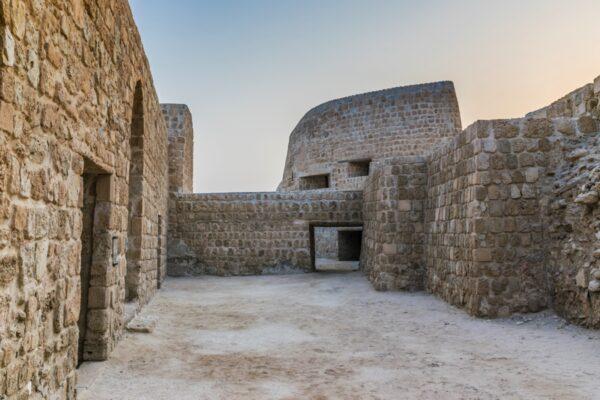 Intérieur du fort de Bahreïn