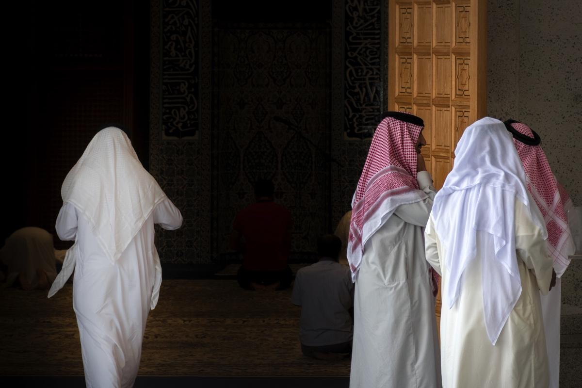 Près d'une mosquée de Manama