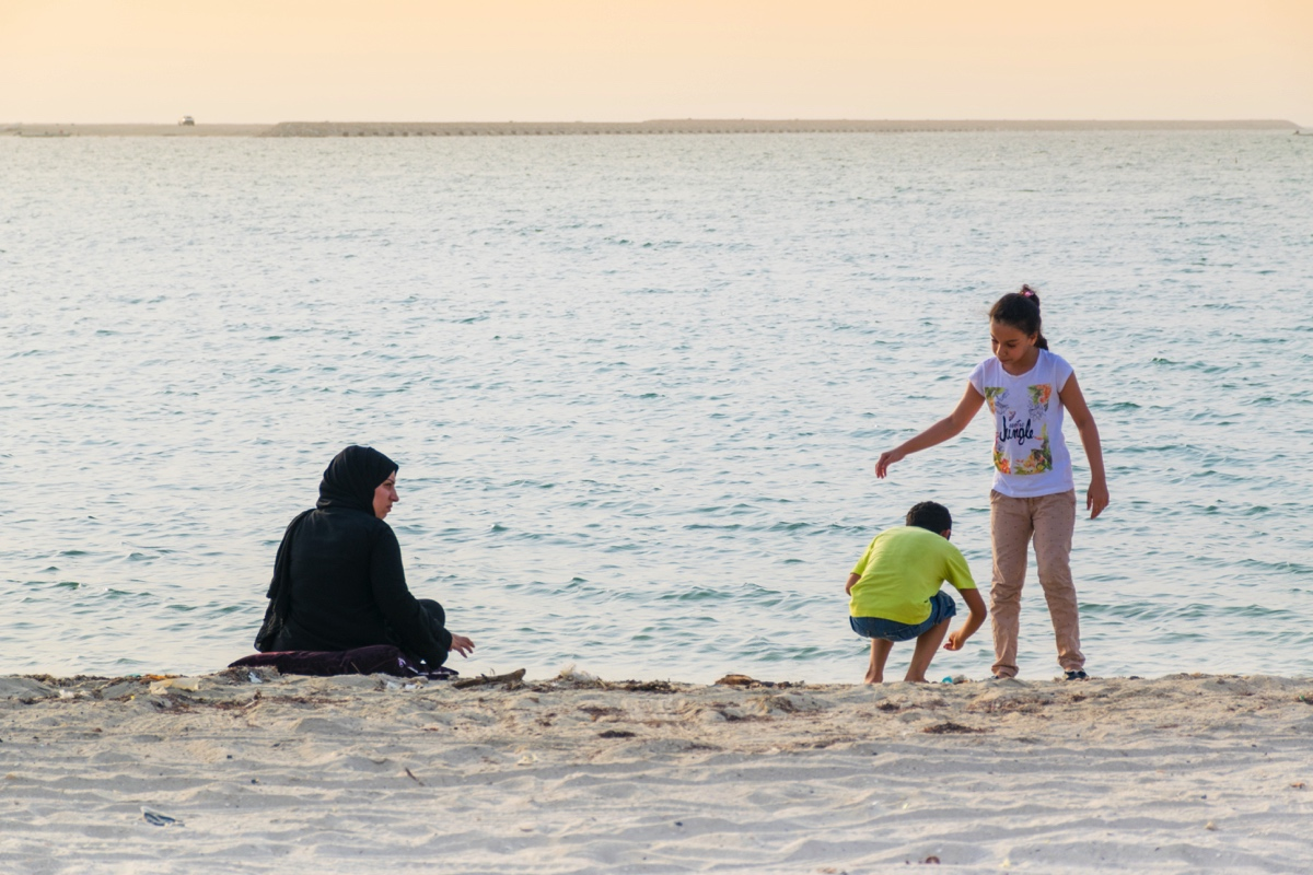 Plage proche du Qal'at al Bahrain