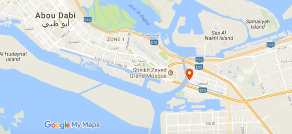 Plan de l'hôtel Shangri-La d'Abu Dhabi