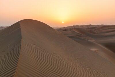 Lever de soleil dans le Rub al Khali